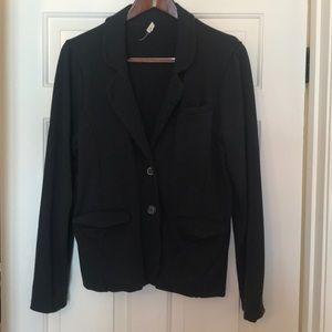 Dark gray knit blazer